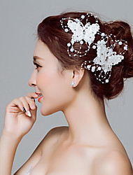 Butterfly Animal Shape Lace Headpiece-Wedding Special Occasion Outdoor Flowers Hair Clip Hair Tool 1 Piece