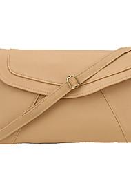 Senhoras envelopes pura cor requintado ombro mensageiro saco pu pacote