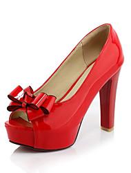 Feminino-Sandálias-Conforto Inovador Gladiador Sapatos clube-Salto Agulha--Couro Envernizado-Casamento Ar-Livre Escritório & Trabalho