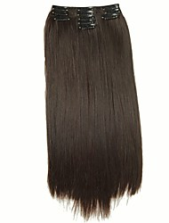 False Hair Extension 11 Clips Clip in Hair Extensions Synthetic Hair Apply Hairpiece 22 Long Straight Hairpieces D1020 2/33#