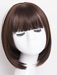 Fashion Brown Color Straight BOBO Wigs For Afro European Synthetic Wig
