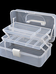Ornament Tool Storage Box White Plastic Box Storage Box