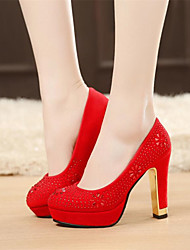 Women's Shoes Leatherette Spring / Summer / Fall / Winter Heels / Platform Heels Wedding / Dress /