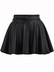 Damen Niedlich Ausgehen Lässig/Alltäglich Mini Röcke A-Linie einfarbig Sommer