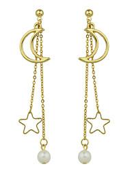 Pendientes colgantes Diseño Básico Crossover Estilo lindo Euramerican Legierung Forma de Estrella Joyas Para Diario Casual 1 par