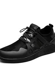 Для мужчин Кеды Удобная обувь сутулятся сапоги Полиуретан Весна Осень Повседневные Для прогулок Удобная обувь сутулятся сапоги ШнуровкаНа