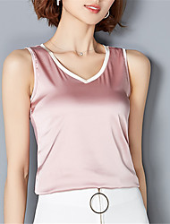 Fashion Wild V Collar Sleeveless Solid Color Upper Outer Garment Holiday Daily Leisure Dating Home Upper Outer Garment