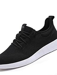 Chaussures de sport pour hommes élasticité confort tissu tulle extérieur athlétique occasionnel rouges rose bleu noir