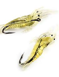 "10 pcs Soft Bait Fishing Lures Soft Bait White Yellow g/Ounce mm/1-5/8"" inch,Silicon Carbon steelSea Fishing Fly Fishing Bait Casting Ice"