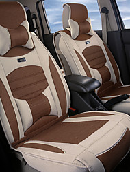 Linen silkLeatherwearBusiness Car 7 Seater Van Seven Car seat Cushion Leather Four Seasons Cushion Seat Cover