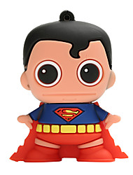 Novo cartoon criativo superman usb2.0 8gb flash drive u vara de memória do disco