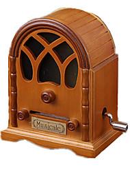 Music Box Circular Novelty & Gag Toys ABS Wood Unisex