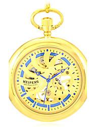 Masculino Relógio Esqueleto Relógio de Bolso relógio mecânico Quartzo Automático - da corda automáticamente Lega Banda Dourada