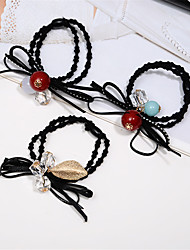 Hair Ornaments Lovely Head Flowers Imitation Pearl Flowers Hair Circle Leaves Hair Rope Hair Band Hair Band Mixed Hair 10pcs