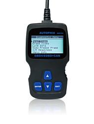Autophix® диагностический инструмент obd obd2 obdii eobd сканер кодов om123 - черный