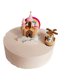 Music Box Circular Novelty & Gag Toys Wood Not Specified