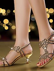 Mujer-Tacón Stiletto-Confort Innovador Zapatos del club-Sandalias-Boda Vestido Fiesta y Noche-Microfibra-