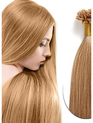 Real Remy Human Natural Hair U-tip Fusion Human Hair Extensions 100s Peruvian Pre-Bonded U-tip Hair Extension Straight 0.5g/strand
