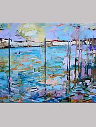 Hand-Painted Abstract Horizontal,Modern European Style One Panel Canvas Oil Painting For Home Decoration
