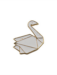 Fashion Trendy Cute  Enamel  Swan Metal Brooch