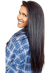Front wigs lace perucas de cabelo virgem indiano reta de seda para as mulheres negras com cabelo do bebê e hairline natural