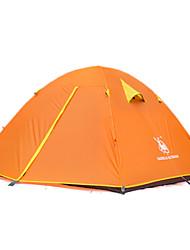 徽羚羊 3-4 persons Tent Double Fold Tent One Room Camping Tent Oxford Waterproof Breathability Ultraviolet Resistant Windproof Foldable-