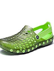 Homens sandálias verão conforto buraco sapatos pu exterior casual azul royal luz verde verde vermelho