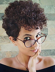 25cm Natural Short Brown Curly Wigs Capless Wigs for Women Costume Wigs Cosplay Wigs
