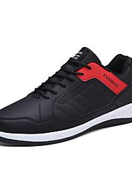 Homme-Décontracté-Noir/blanc Noir/Rouge Noir / bleu.Confort-Baskets-Polyuréthane