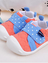 Girls' Baby Flats Comfort Fabric Spring Fall Casual Comfort Flat Heel Yellow Ruby Light Blue 1in-1 3/4in