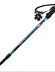 3 Nordic Walking Poles 110cm (43 Inches) Damping Foldable Light Weight Adjustable Fit Carbon Fiber Camping & Hiking Snowshoeing Traveling