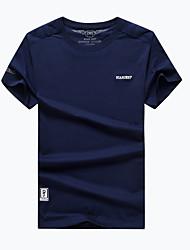 Homme Tee-shirt de Randonnée Séchage rapide Respirable Tee-shirt pour Camping / Randonnée Pêche Eté L XL XXL XXXL XXXXL
