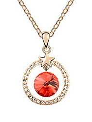Women's Pendant Necklaces Jewelry Jewelry Gem Alloy Unique Design Fashion Light Blue Blushing Pink Red Jewelry For Party Gift Daily Casual
