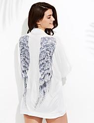 Une-pièce / Robes Légères Aux femmes Fleur / Couleur Pleine Une-Pièce Bandeau Spandex