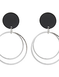 Women's Drop Earrings Hoop Earrings Jewelry Basic Circular Unique Design Logo Style Dangling Style Pendant Friendship USA Personalized