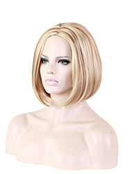 Новые золотые волосы парики европы и поток внешней торговли белый парик 10inch