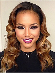 Unprocessed Gluesless 7A 100% Brazilian Weave Virgin Human Hair Full Lace Wig T1B/30# Color Full Lace Wigs For Woman