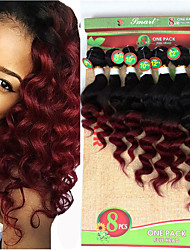 Âmbar Cabelo Brasileiro Onda Profunda 6 meses 1 Peça tece cabelo