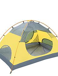 2 Personen Zelt Einzeln Falt-Zelt Einzimmer Camping Zelt 2000-3000 mm Nylon OxfordFeuchtigkeitsundurchlässig Wasserdicht Regendicht