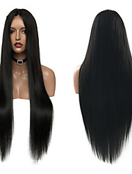8A Grade Long Straight Glueless Lace Front Human Hair Wigs Peruvian Virgin Hair Lace FrontWig with Baby Hair For Women