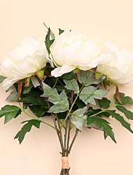 1шт / комплект 1 Филиал Шелк Пионы Букеты на стол Искусственные Цветы