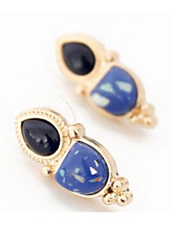 Drop Earrings Multi-stone Imitation Sapphire Dangling Style Gem Chrome Depression Green Blue Jewelry ForWedding Party Special Occasion