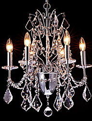 Chandelier ,  Modern/Contemporary Traditional/Classic Country Chrome Feature for Crystal MetalLiving Room Bedroom Dining Room Game Room