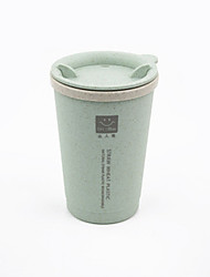 Wheat Straw Double Layer Non Disposable Open-cup