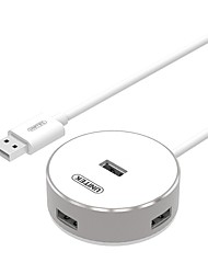 UNITEKY-2179C All Aluminum Silver USB 2.0 High-Speed 4PORT HUB with 120CM Cable