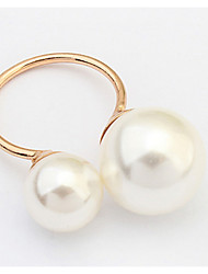 Euramerican Elegant  Fashion Pearl Cuff  Adjustable Rings Women's Daily Rings Jewelry Gifts