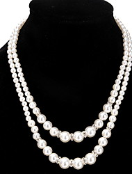Strands Necklaces Layered Necklaces Women's Pearl Rhinestone Alloy Friendship Elegant Party Dailywear Chrismas Movie Gift  Jewelry