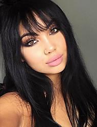 Pelucas virginales vendedoras calientes del pelo del pelo virginal brasileño pelucas sin tirantes del cordón pelucas virginales del pelo