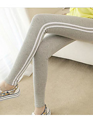 Spring 2016 new thicker sport striped stretch tight leggings pantyhose feet