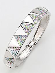 Mulheres Bracelete Jóias Natureza Confeccionada à Mão Moda Vintage Strass Liga Jóias Para Casamento Festa Aniversário Reunião de Classe